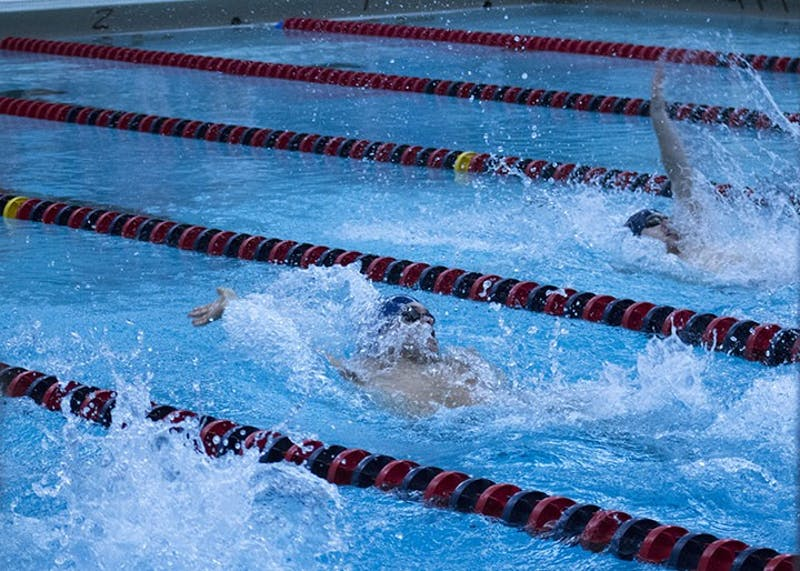 The men's team won easily over Clarion on Friday, while the women narrowly lost. The men won eight of their 11 competitions, and the women won six.