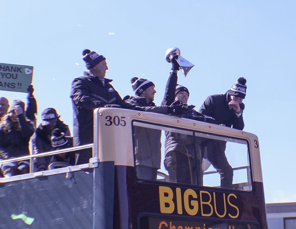 Eagles celebrate championship with historic parade