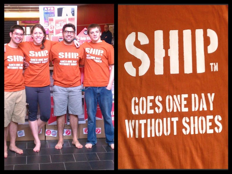 """SU held its fourth annual """"One Day Without Shoes"""" event on April 16. The project was started by alumna Lauren Gyurisin."""