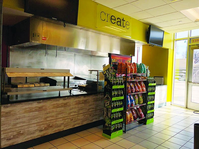 Chop N Wrap closed this semester after cutting hours back last semester. It sold wraps, salads and fries during the day and breakfast sandwiches at night. Chop N Wrap menu items are still available at Mondo Subs in the CUB food court.