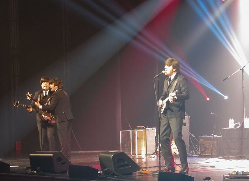 A tribute band of The Beatles, Abbey Road, went up against The Rolling Stone's tribute, Satisfaction, in a playful musical showdown on Thursday in Luhrs.