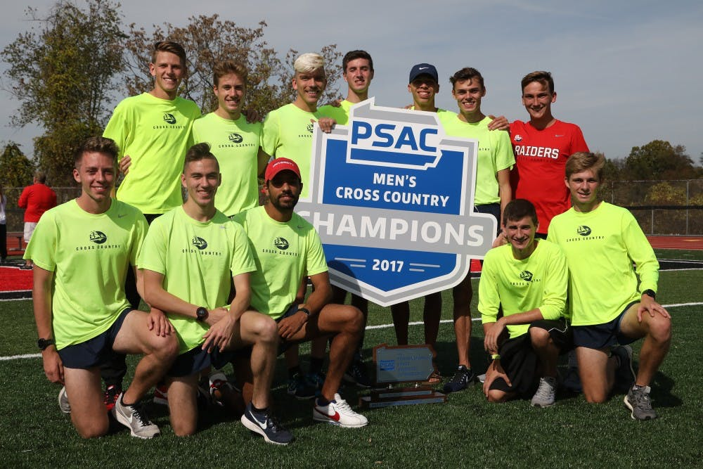 Men's XC claims 2017 PSAC title, women place second at championships
