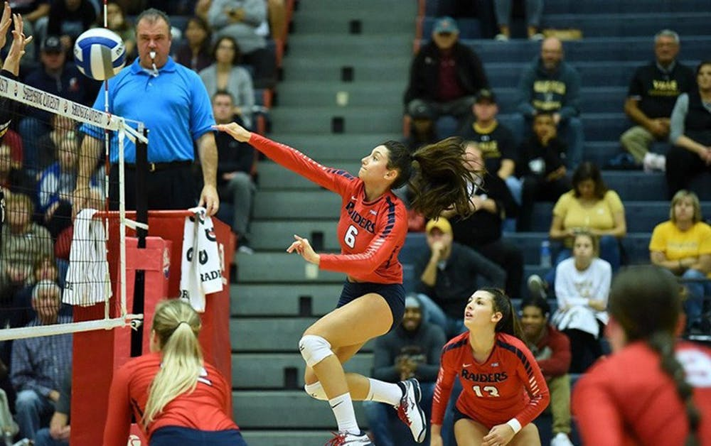 Volleyball drops out in conference semifinals