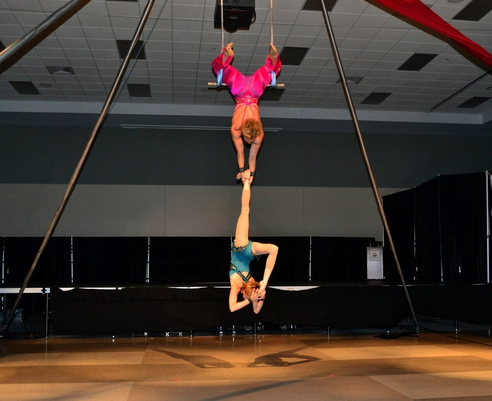 The Nimble Arts Circus brightens a rainy day at Shippensburg University