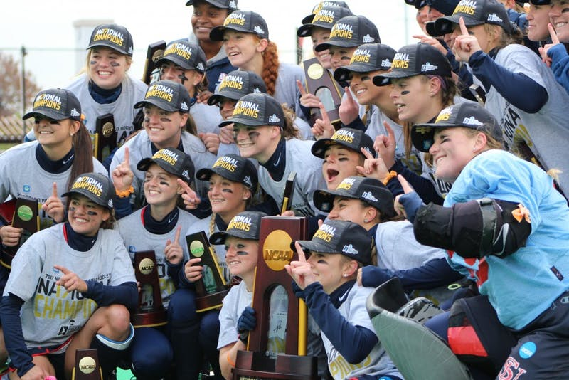 The 2017 field hockey team repeats its feat from last year, winning its second-straight NCAA Championship.