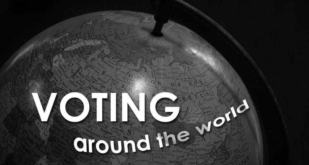 Voting systems differ across the globe