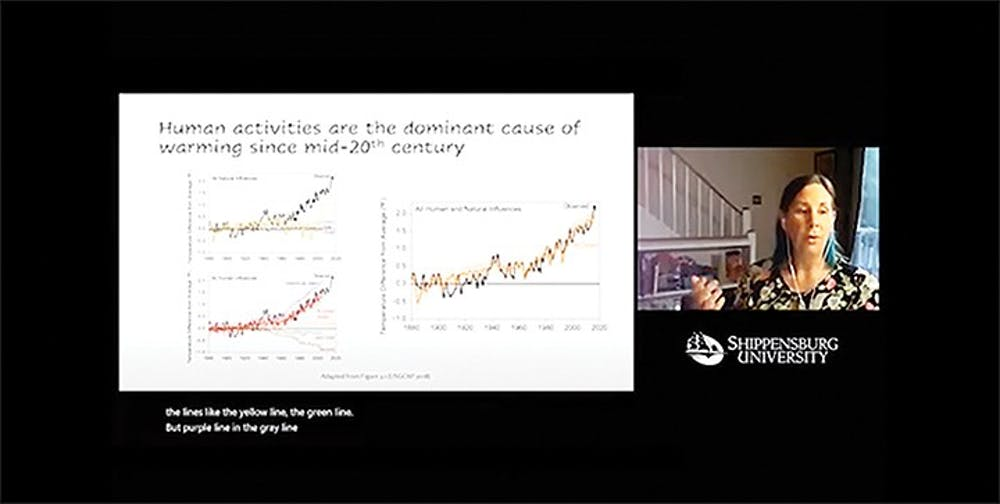 Climate change expert discusses temperatures, human impact