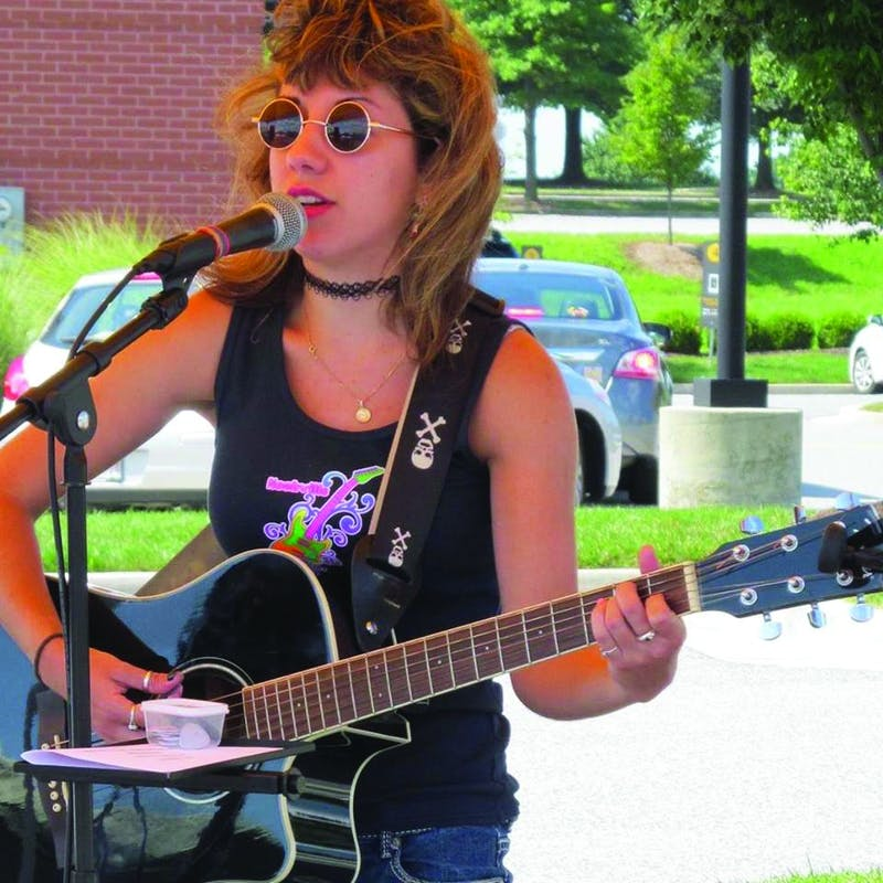 Shippensburg University student and musician Alexia Christian performs rock-pop songs.