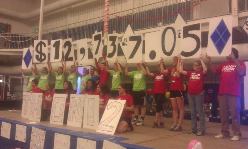 The SU Mini-THON committee proudly revealed the total amount of money raised for pediatric cancer patients.