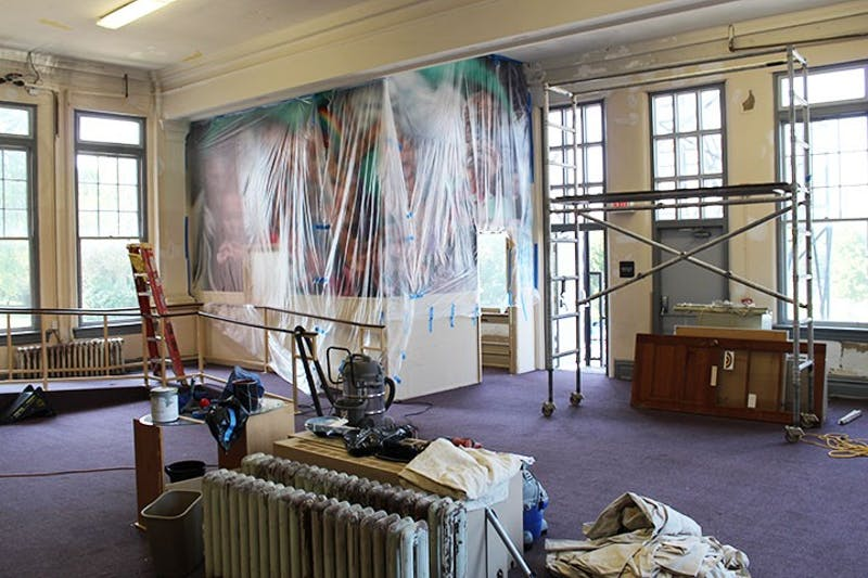 "During the fall 2019 semester, ""The AM"" will be filled with workers instead of students. Repairs will continue in the building into December. The AM's iconic mural will not be changed during renovations."