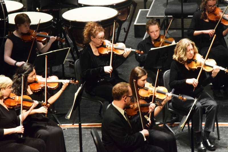 The SU Community Orchestra has one concert each semester.