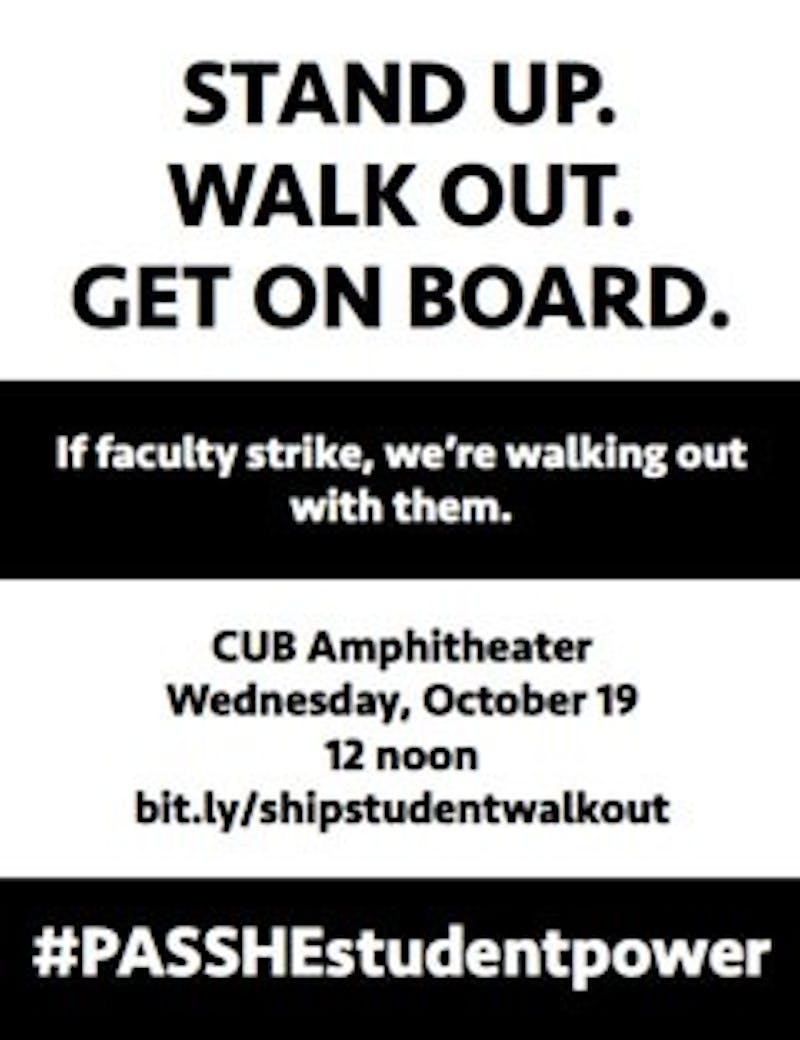 The student group made a flier to gain more support.