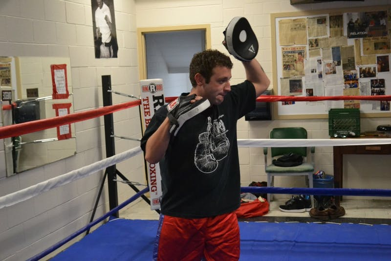 Travis Wylie, the head coach of the club team, was a former Raider boxer himself.