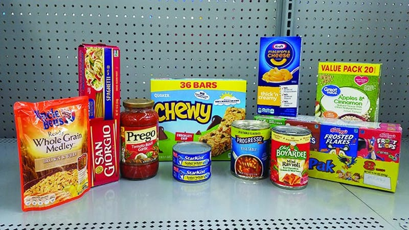 Shippensburg Community Resource Coalition (SCRC) is asking for donations for the Hound Packs Program. Non-perishable items such as the ones pictured above can be donated at various locations on and off campus.