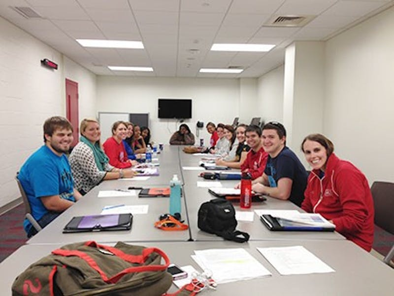 The SU homecoming committee meets and discusses its plans, including the charity it chose to fundraise for, the MS Society.