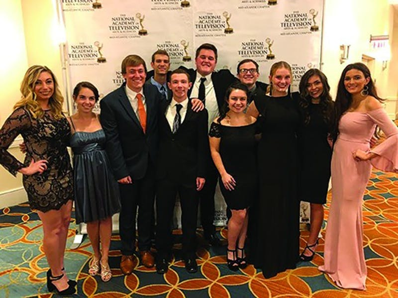 SUTV members attend the Mid-Atlantic Chapter of the National Academy of Television Arts and Sciences. The group was nominated for three Emmys.