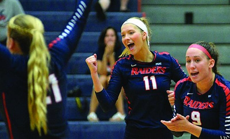 The Raiders have rattled off five straight victories, including three straight sweeps against PSAC teams.