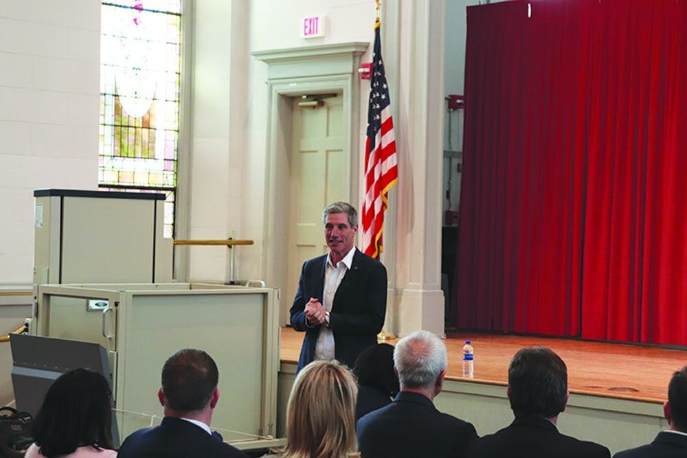 Greenstein addresses next steps in system redesign during tour
