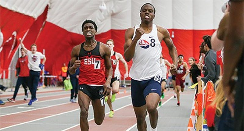 Austin Padmore won the PSAC championship in the individual 800 meters in his debut at the event. He also contributed to several successful relay teams.