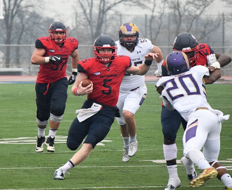 Ryan Zapoticky was the leading player on offense for the Red Raiders against the Golden Rams in his final game for the team, throwing for 162 yards and a touchdown.