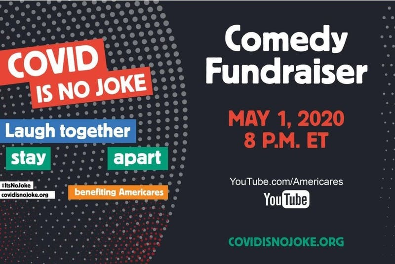 Entertainers will bring laughter to Americans Friday night at 8 p.m. on YouTube.