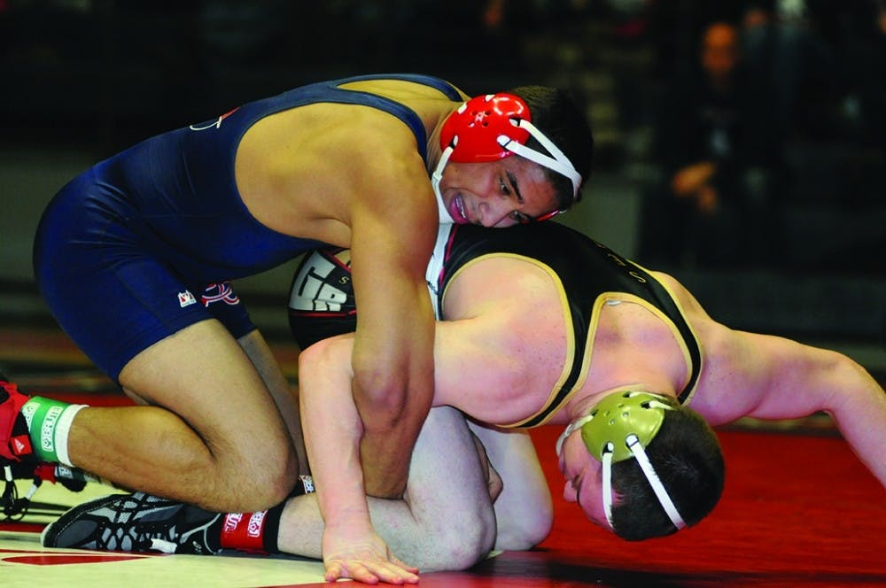 Wrestling wins two of three matches at York College tournament