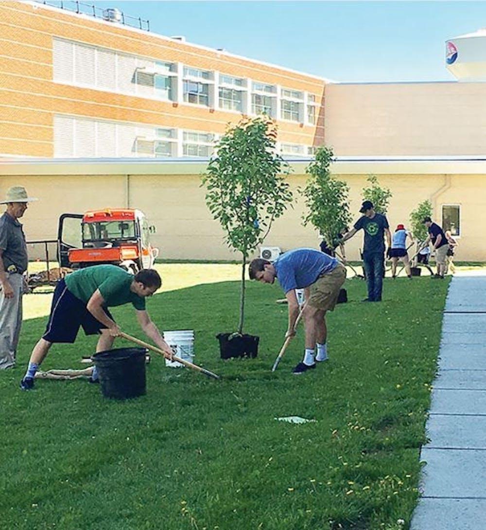 SU celebrates Arbor Day with campus-wide tree-planting