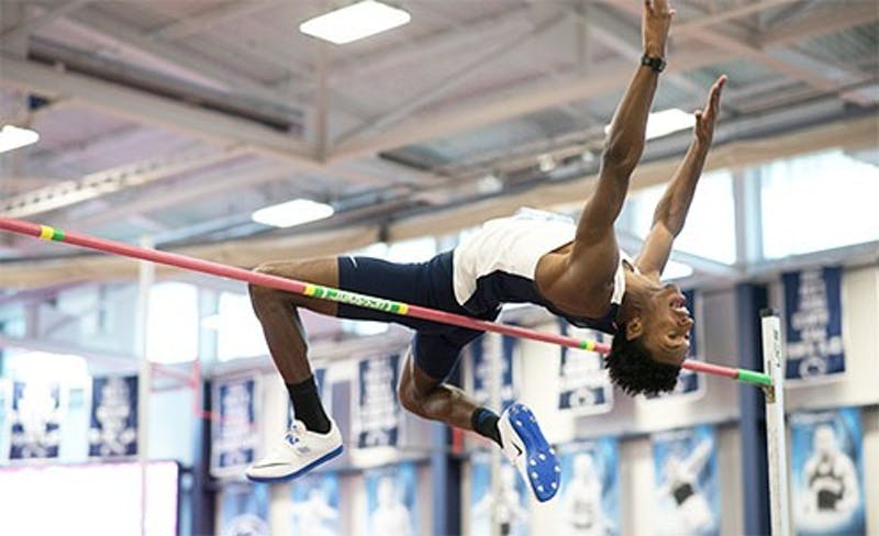 SU's Tra-C Davis had a banner day, kicking off the indoor season with a personal record in the high jump with a jump of 6 feet, 11 inches on Saturday at Bucknell.