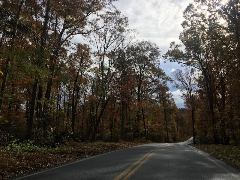 Baltimore Road is a scenic road used along the route to the destination on the Astronomy Trail.