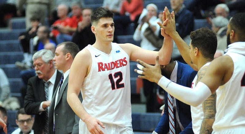 Playing in what may have been his final game at Heiges Field House, senior Dustin Sleva put on a show, scoring 24 points and tallying 13 rebounds in SU's 94-67 win over Millersville in the first round of the PSAC Tournament on Monday night.