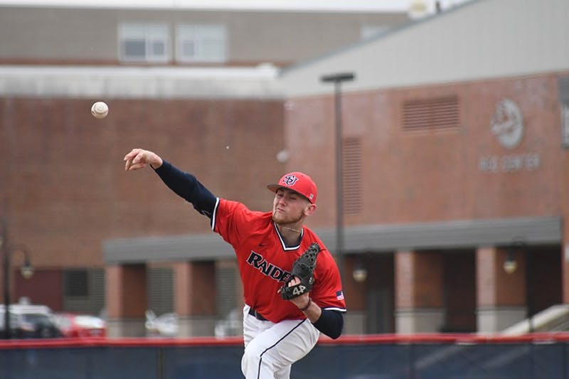 Kyle Lysy threw six scoreless innings in the Raiders' 9-0 Game 1 victory. Lysy has now thrown 13 consecutive shutout innings in his previous two starts.