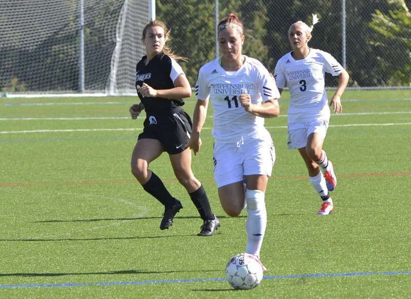 Junior Forward Kate Zech (11) recorded the Raiders' lone assist in Wednesdays victory.