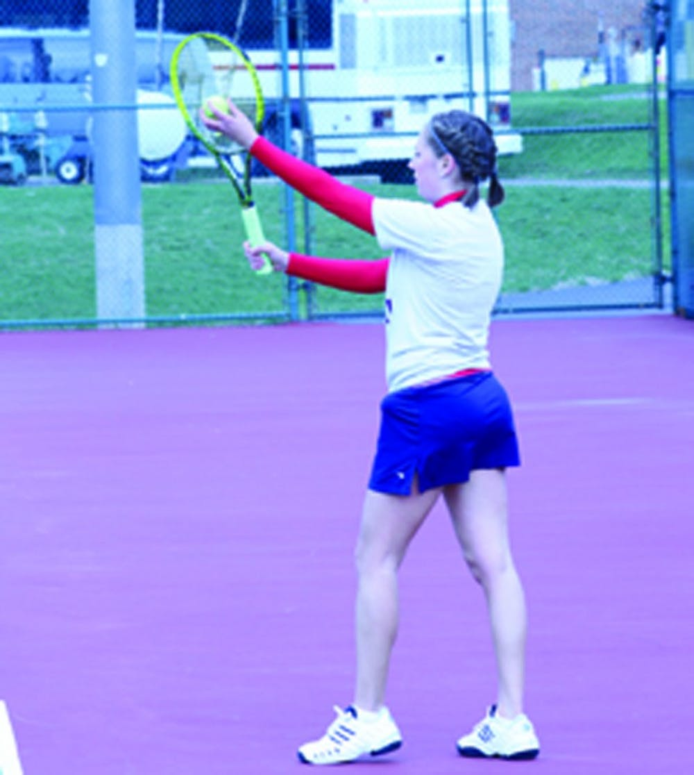 Tennis team falls to Georgian Court and Goldey Beacom in spring break action.