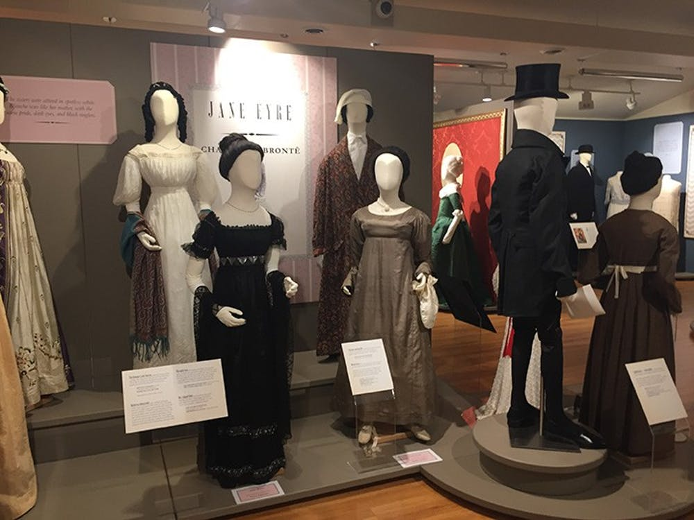 Exhibit displays clothing in literature