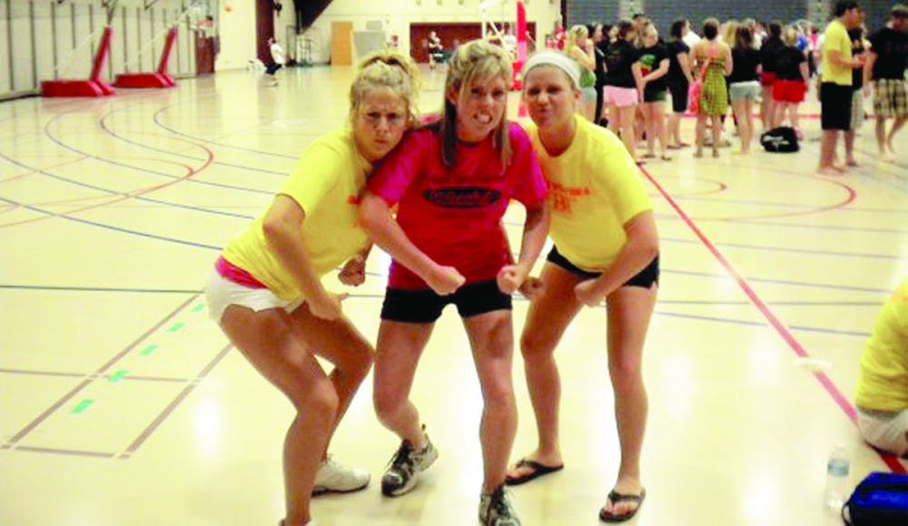 Sororities and Fraternities battle during Greek Week