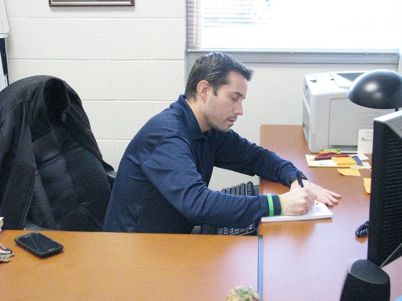 Wes Mallicone is one of the busiest men on SU's campus but he handles all of the commotion well.