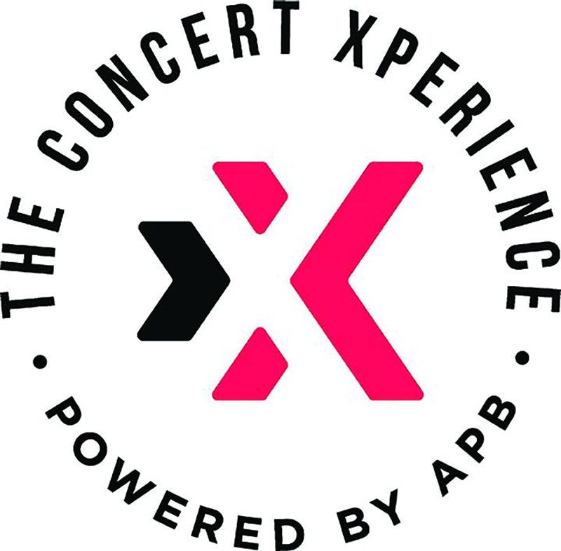 """The Concert Xperience, Powered by APB"" appeared on campus sidewalks and on APB social media accounts to promote the concert in February."