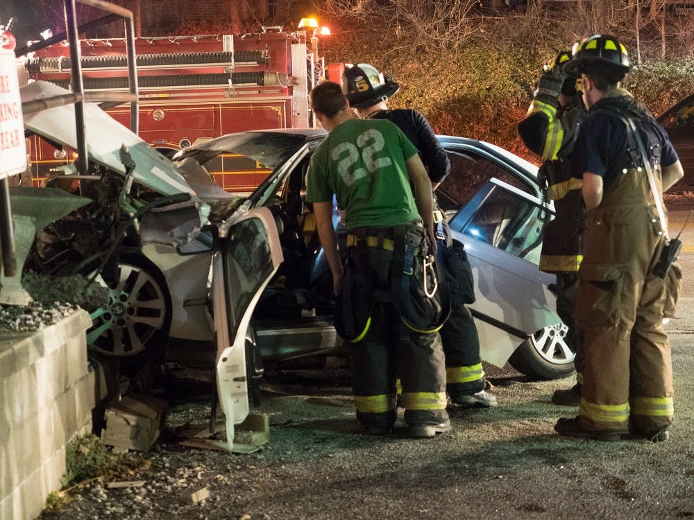 Vehicle collision sends man to hospital