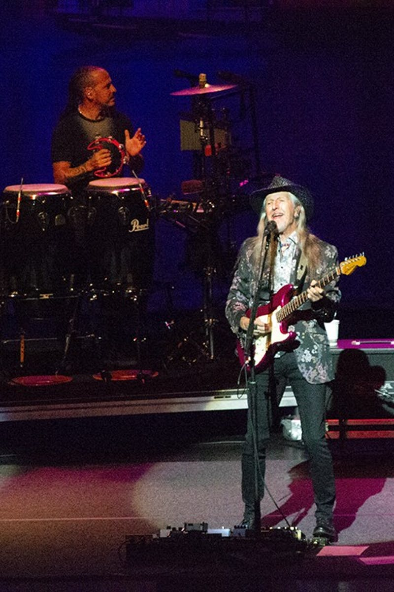The Doobie Brothers' guitarist Patrick Simmons has always been a part of the band since it was formed in 1970. He survived its break up in 1982 and continues to play with them today.