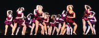 """In-Motion Dance Troupe performs a jazz routine to the song """"Show Me How You Burlesque."""" It was choreographed by SU alumni Keri Harne and Kate Howe."""