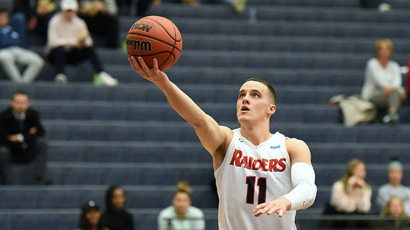 Jake Biss averaged 15.9 points, 4.4 assists and 4 rebounds in a 2019-20 campaign that earned him PSAC Eastern Division Athlete of the Year honors.