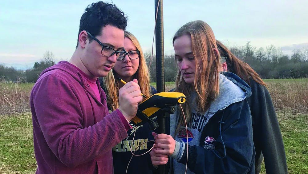 Students map Hornbaker Wetland with drones
