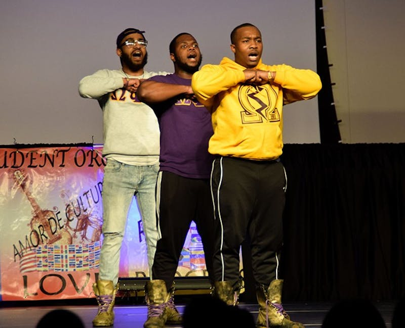 "The Latino Student Organization held its ""Step up Stroll Out"" event in the CUB MPR Saturday to entertain and give a platform for students to speak."