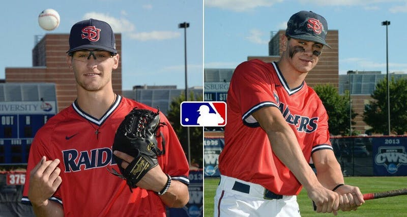 Gabe Mosser, left, and Cash Gladfelter, right, were late-round picks in the MLB Draft, taken by the San Diego Padres and Seattle Mariners, respectively.