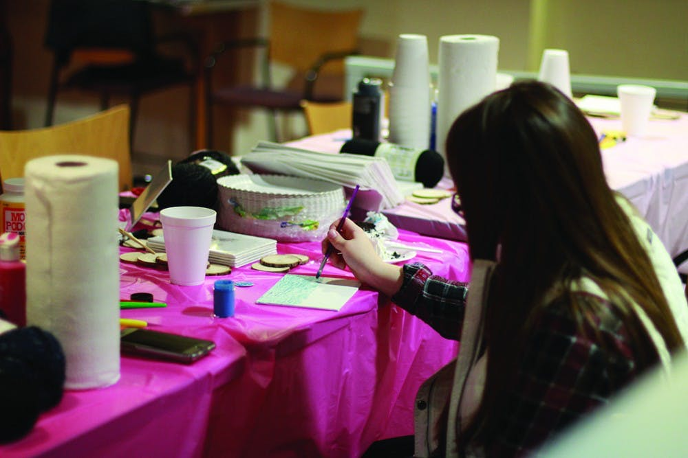 Students bond, raise awareness over crafts