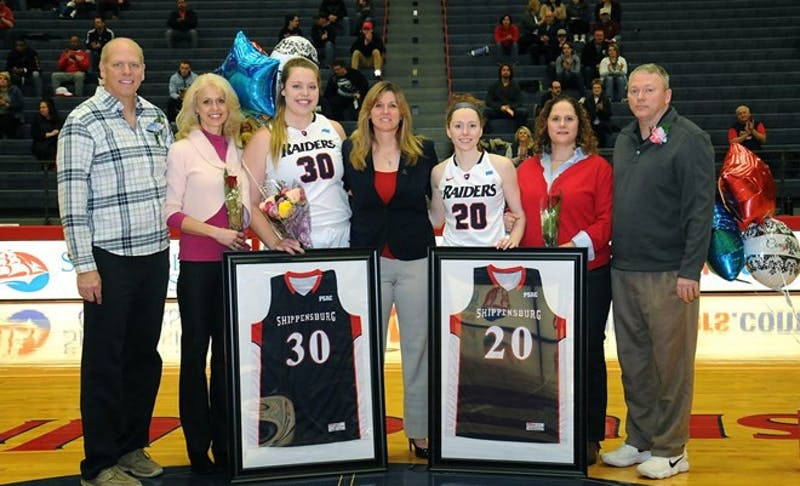 SU seniors were honored before the final game of the season against Bloomsburg Saturday.