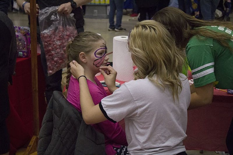 Heiges Field House was filled with children Saturday.