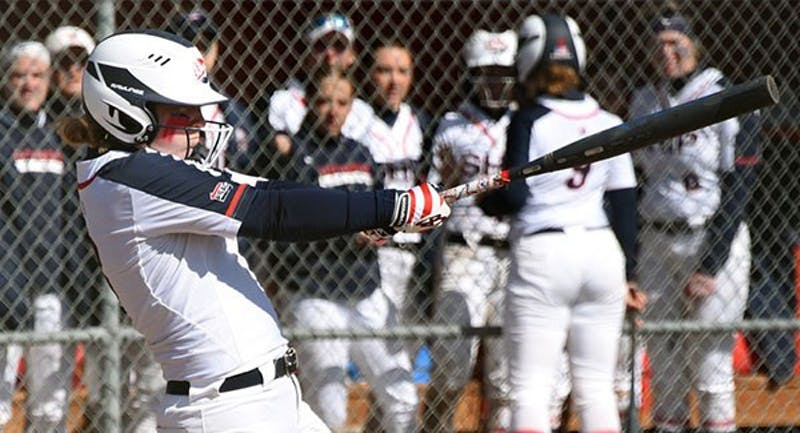 Courtney Coy drove in two runs in the loss against Caldwell University on Sunday. Coy is having a breakout season, batting .456 and leading the team in RBIs.