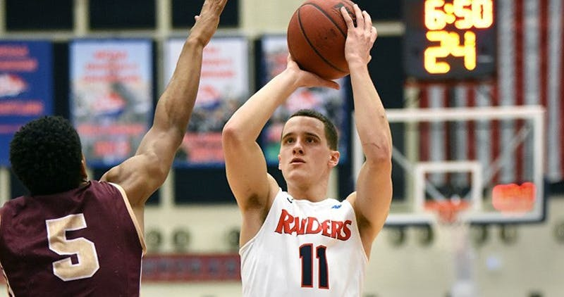 Jake Biss does an excellent job this season controlling the ball for the Raiders. He has also become a more aggressive scorer, averaging 13.1 points per game.