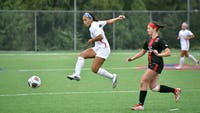 Junior midfielder Sydney Miller scored the game winning goal for the Raiders in their overtime victory against Mansfield.